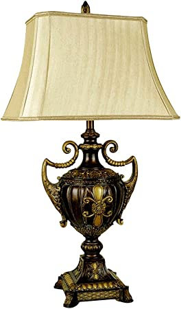 Ore International 8202 30 Inch Urn Shape Table Lamp Antique Gold Table Lamps For Living Room Amazon Com