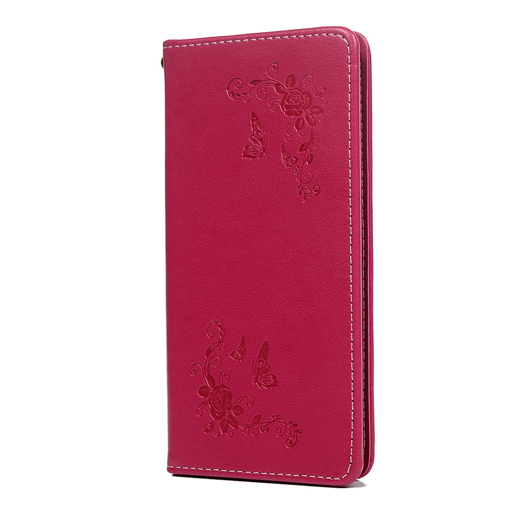 Huawei P20 Lite Case, Automatic Adsorption PU Leather Flip Wallet Case Butterfly Flower with Magnetic Stand Card Holder ID Slot Folio TPU Bumper Protective Skin Cover for Huawei P20 Lite Gold Tophung