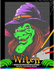 Witch Color by Numbers for Adults: Halloween Mosaic Coloring Book Stress Relieving Design Puzzle Quest