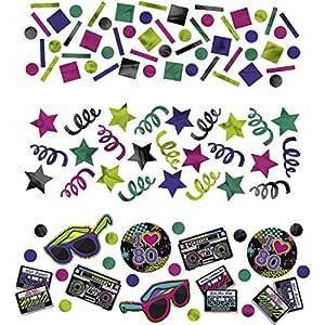 NET TOYS 34 g de Confeti años 80 Accesorios cumpleaños ...