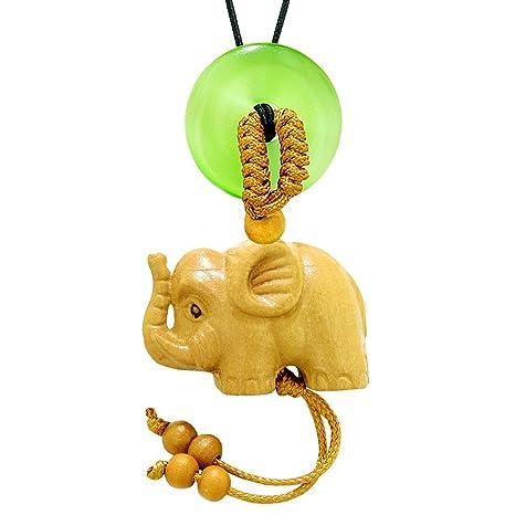 Amazon.com: Bebé elefante buena suerte colgante para coche o ...