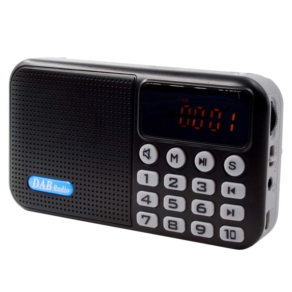 Household appliances Multi-Function Portable DAB Digital Radio, Support Bluetooth MP3 Playback, LED Broken Code Screen Design, AOYS