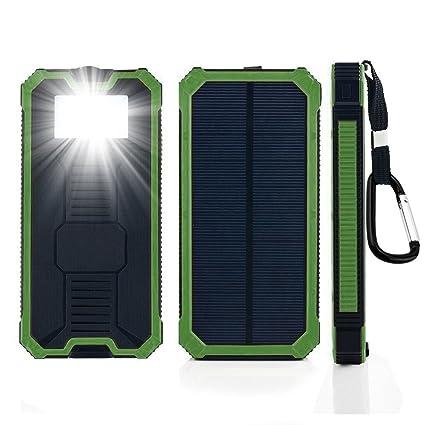 Amazon.com: Cargador Solar 12000mAh Batería Externa Solar ...