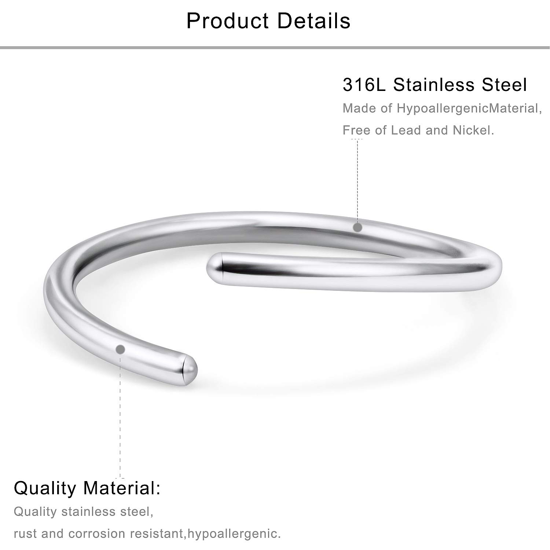 Lcolyoli 30PCS 20G Surgical Steel Nose Rings Hoop Cartilage Earrings Hoop Septum Piercing Jewelry for Women Men 6-14mm