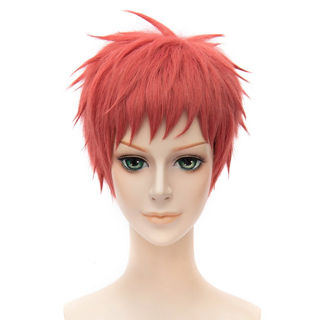 Coolsky Seraph of the End Red Women Short Red Wigs Cosplay Costume Synthetic Hair Wig