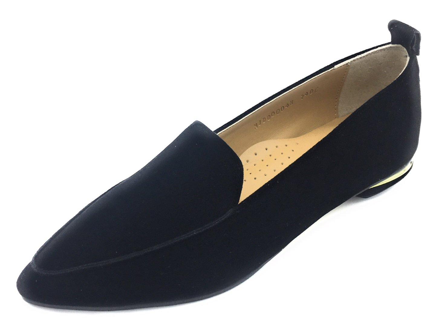 Davinci Women's Suede Loafter Heel B0772XBKTT 7.5 B(M) US|Black