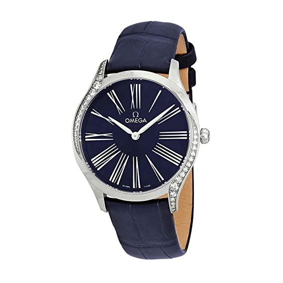 Omega De Ville Reloj para mujer, esfera azul, 428.18.36.60.03.001