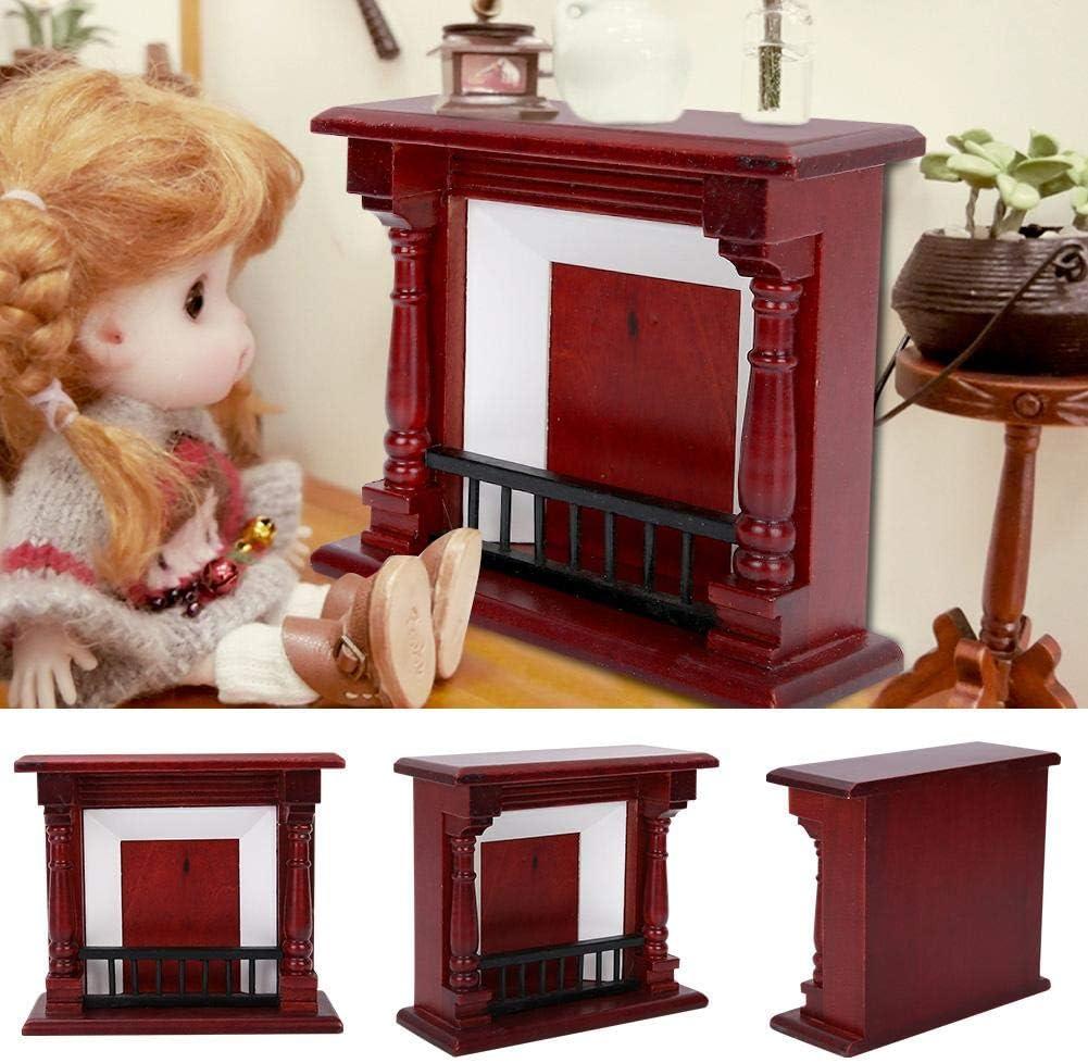 1:12 Simulazione Mini Camino Rose Red Wood Accessori per Mobili per Casa delle Bambole fingere Giocare Gioco Decorazioni per la Casa Ragazzo Ragazza Compleanno Natale Regalo