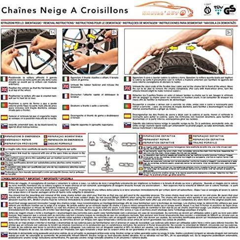 HABILL-AUTO Chaines Neige 9mm Premium Tension s Automatique 245//45 R17-245 45 17-245 45 R17