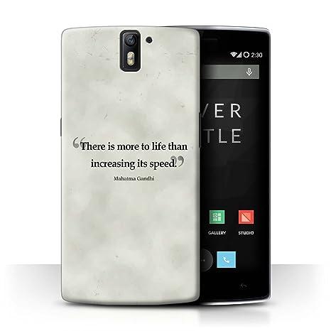 Stuff4® Carcasa/Funda Dura para el OnePlus One/Serie: Frases ...