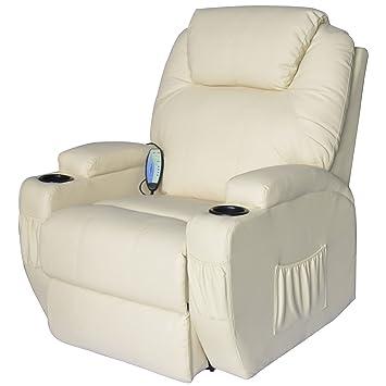 Homcom Massagesessel Relaxsessel Mit Wärmefunktion Fernsehsessel