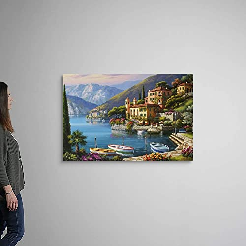 Villa Bella Vista Canvas Wall Art Print