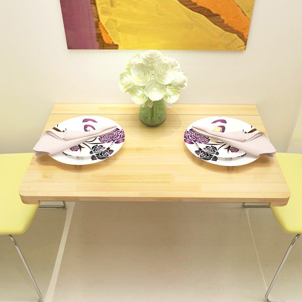 Drop-Leaf Tisch Wandmontierter Drop-Leaf-Tisch aus massivem Holz , Klappbarer Esstisch Esstisch Esstisch Schreibtisch Platz Computerarbeitsplätze , Natürliche Farbe , Größe Optional (größe   120×60cm) f2042d