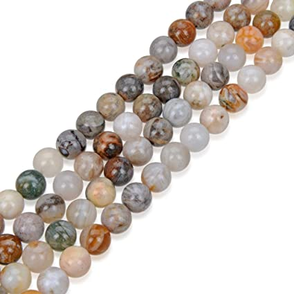 "8mm Riverstone Round Gemstone Loose Beads Strand 15.5/"" Jewelry Making Finding"