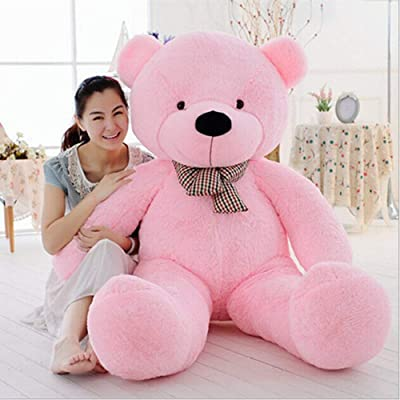 MaoGoLan Giant Teddy Bear Large Stuffed Animal Toys Big Teddy Bear for Girlfriend (55 Inch, Pink): Toys & Games