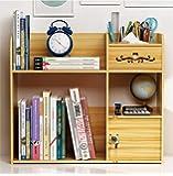 Desk Storage Organizer, Wooden Desktop Document Cabinet with Unique Lock Design, Adjustable Rotation File Rack Desktop…