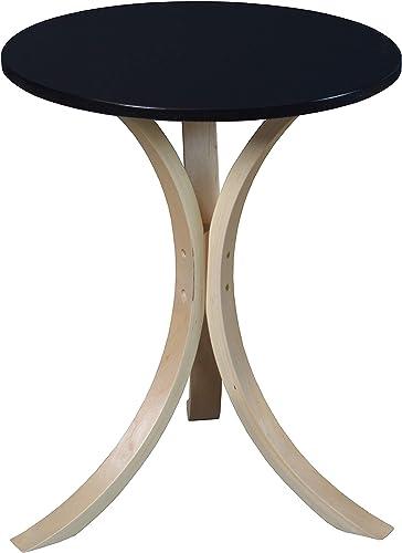 Niche Modern Mia Side Table, 18-Inch,Natural Black
