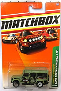 Matchbox '97 Land Rover Defender 110 Metallic Green #55 1/64 Scale Collector