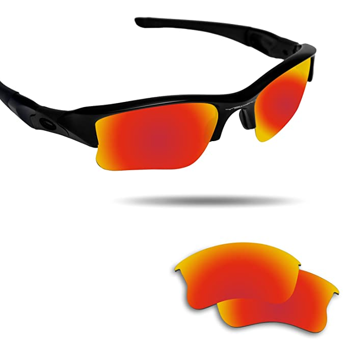 73a8774e53f76 Image Unavailable. Image not available for. Color  Fiskr Replacement Lenses  for Oakley Flak Jacket XLJ Polarized Red