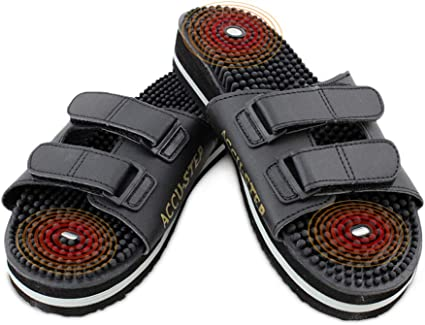 buy popular retail prices order online US Jaclean Foot Reflexology Sandals for Mens Womens Therapeutic Acupressure  Magnetic Massaging Sandals Slippers Accu Step (M(M6.5-8/W7.5-9))