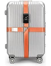 BlueCosto TSA Approved Luggage Strap Suitcase Travel Cross Belt Adjustable