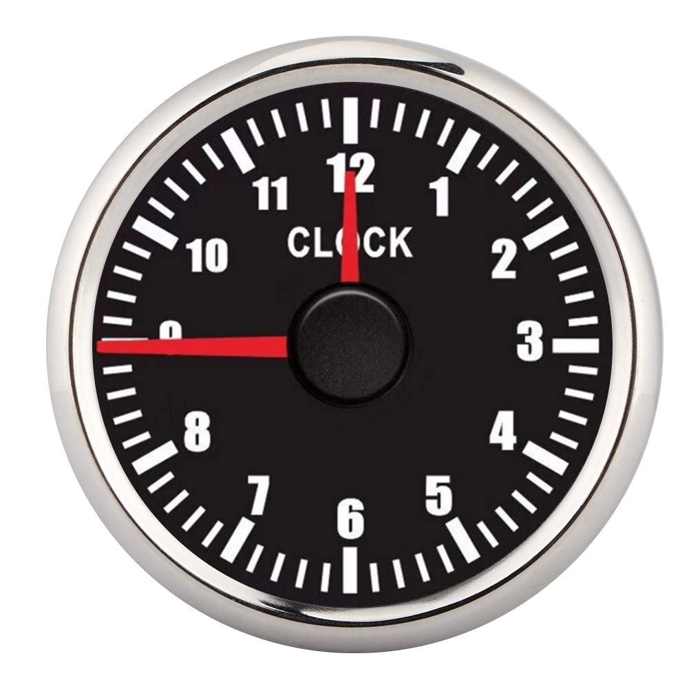 Waterproof 0‑12 Hourmeter Clock Time Gauge Red Backlight Display Universal Fits for 12V/24V Car Boat Yacht(110v)
