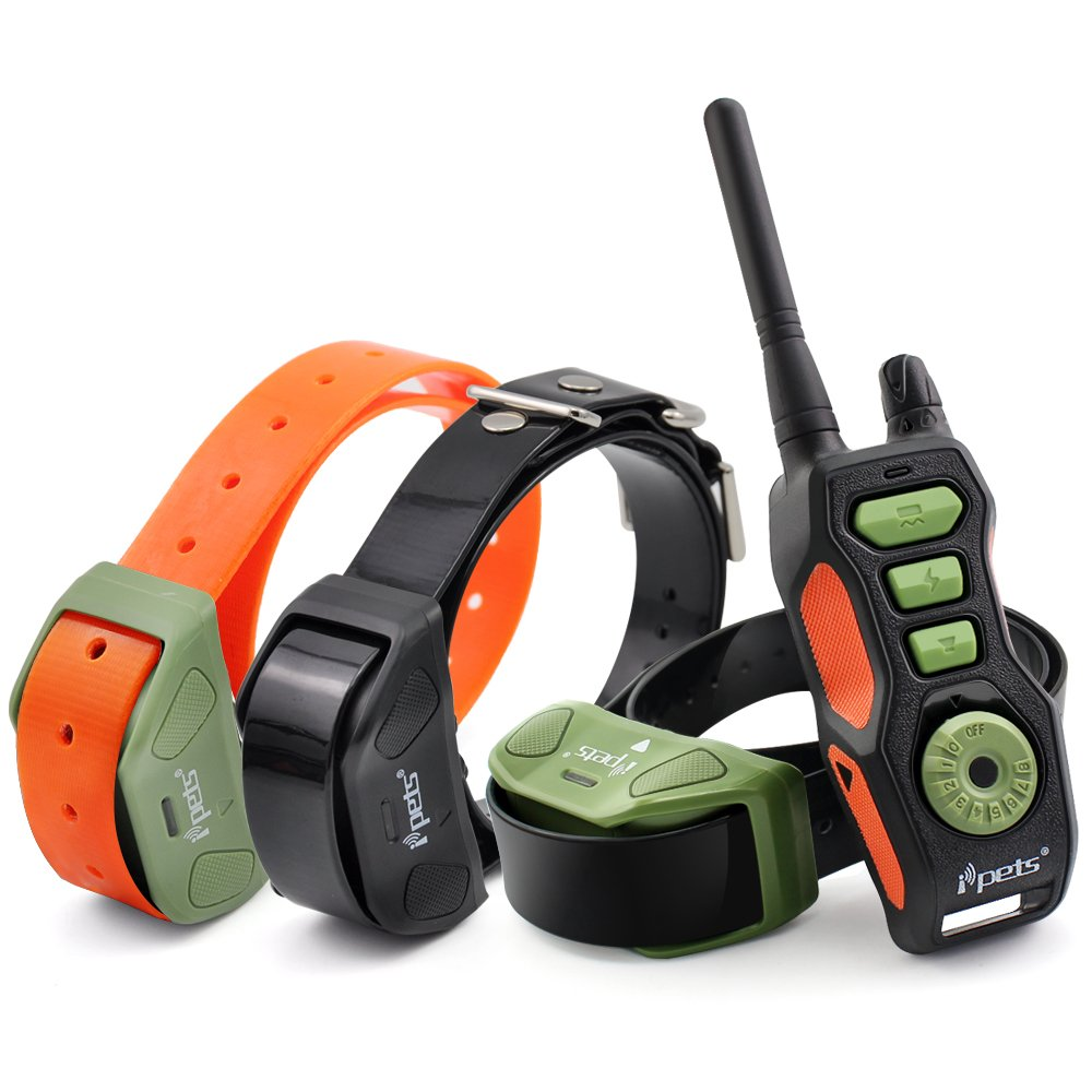 iPets PET618-3 Dog Shock Collar 2600ft Remote Controlled Collar 100% Waterproof & Rechargeable Dog Training Collar with Beep Vibrating Electric Collar for Dogs ¡ by Ipets