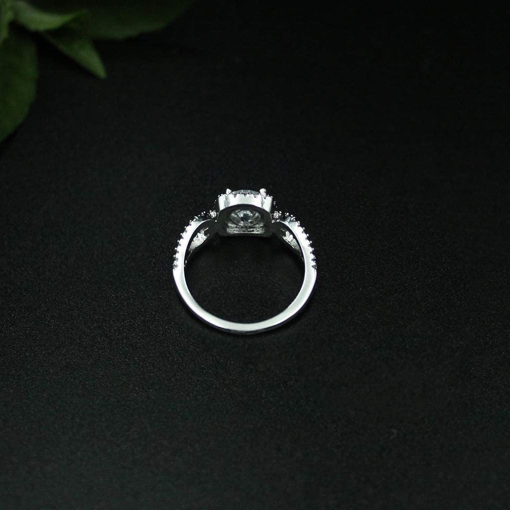 8, Silver Allywit Wedding Rings Engagement Rings for Women Anniversary Promise Ring Bridal Sets 925 Sterling Silver Zirconia Ring Size 5-10