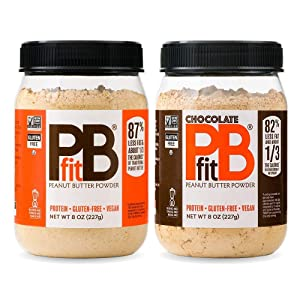 PBfit All-Natural Peanut Butter Powder 8 ounces (oz), Powdered Peanut Spread from Real Roasted Pressed Peanuts, 8g of Protein, Variety Pack, 2 Count