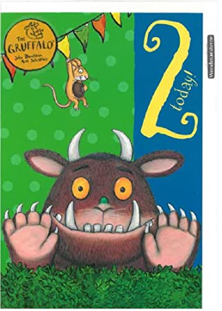 The Gruffalo Age 2 2nd Birthday Card Amazon Co Uk Office Products