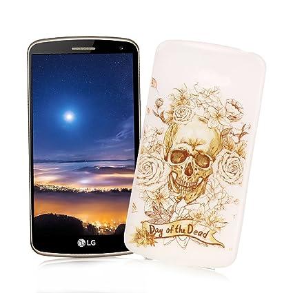 XiaoXiMi Carcasa LG K5 Funda Luminosa de Silicona Caucho Gel para LG K5 Soft TPU Silicone Case Cover Carcasa Protectora Funda Blanda Suave Flexible ...