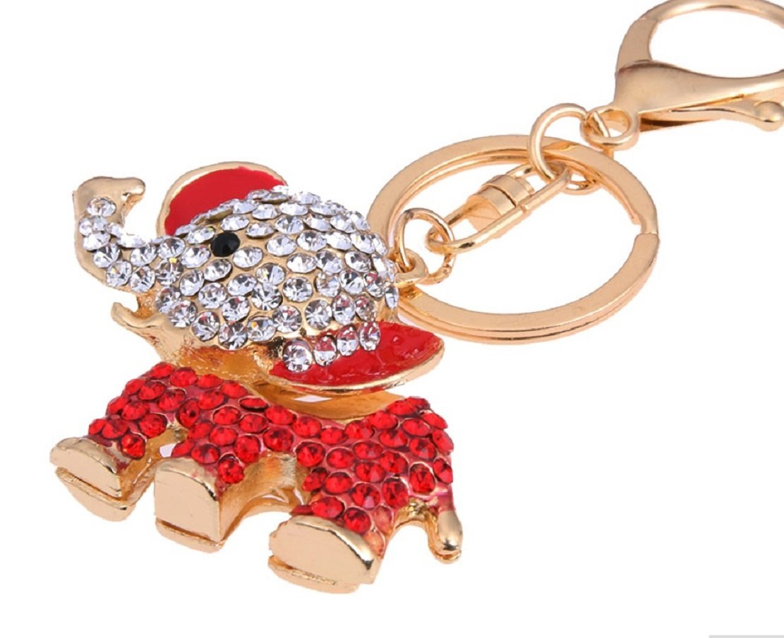From the Heart RED ELEPHANT Key Chain Embellished with Crystal Rhinestones.Celebrate the Alabama Crimson Tide Mascot