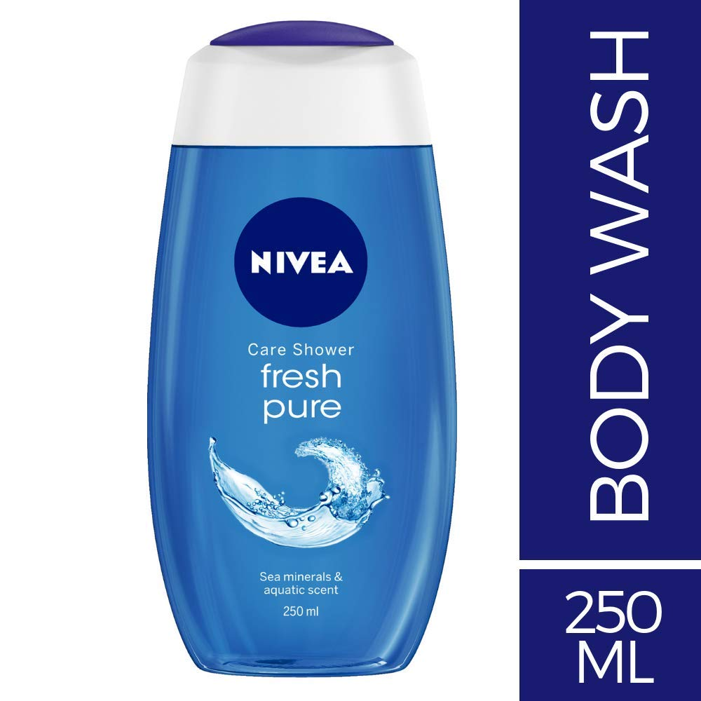 NIVEA Shower Gel, Fresh Pure, 250ml