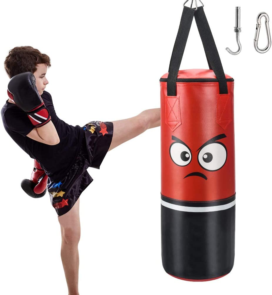 2Ft Junior//Kids Punch Bag MMA Mitts Set Heavy Duty Kick Fitness Boxier Training