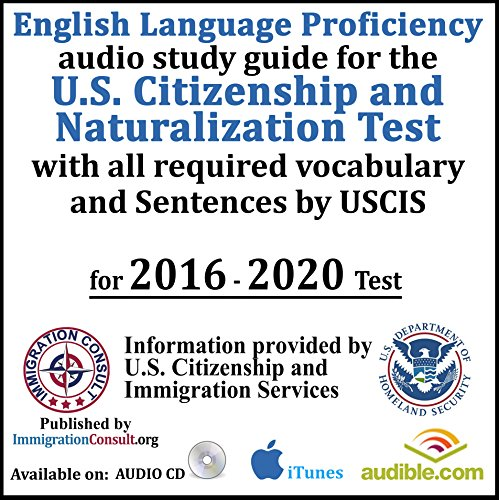 US Citizenship test audio study guide with all English Vocab