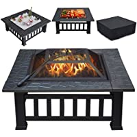 Popamazing BBQ Outdoor Fire Pit