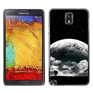 EJOY---Cubierta de la caja de protección la piel dura para el / Samsung Note 3 N9000 / --Surrealista Luna