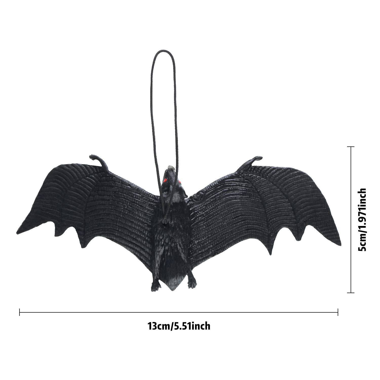 Amazon.com: 15 piezas de murciélagos de goma falsos para ...