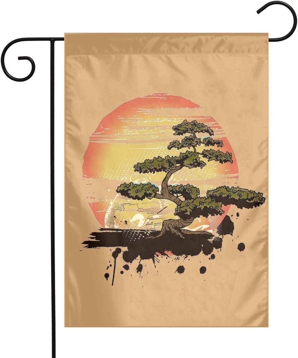 WU4FAAR - Bandera de jardín con diseño de cangrejo de 12 x 18 pulgadas, Bonsai Árbol Karate Dojo, 12