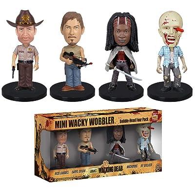 Wacky Wobbler: Walking Dead 4 Piece Mini Wobbler Set: Toys & Games