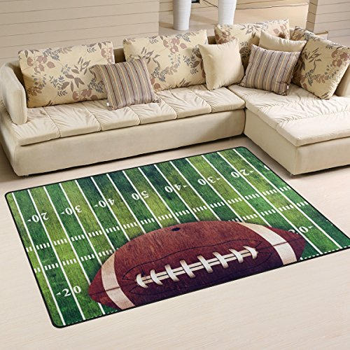 Naanle Sport American Football Non Slip Area Rug for Living Dinning Room Bedroom Kitchen, 5' x 7'(58 x 80 Inches), Sport Nursery Rug Floor Carpet Yoga Mat