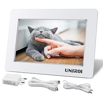 Pantalla de 7 Pulgadas para Raspberry pi, UNIROI Monitor HDMI 1026 * 600 con Carcasa Ultradelgada Todo Dispositivo con HDMI Entrada, RPi 3 2 Modelo B ...