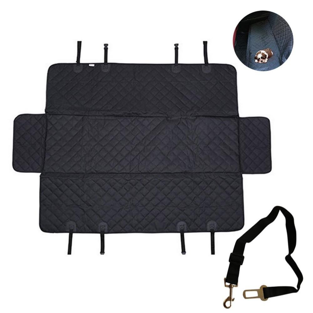 Luxury(With Side Flaps Without Zipper) Dog Cooling Pad Mat, Aolvo Pet Car Seat Covers Extra Large with Window, Side Flaps, Seat Belt for Dogs & Cats Waterproof, Non-Toxic, Non-Slip, Anti-Scratch Seat Covers for Cars, Trucks, and SUV