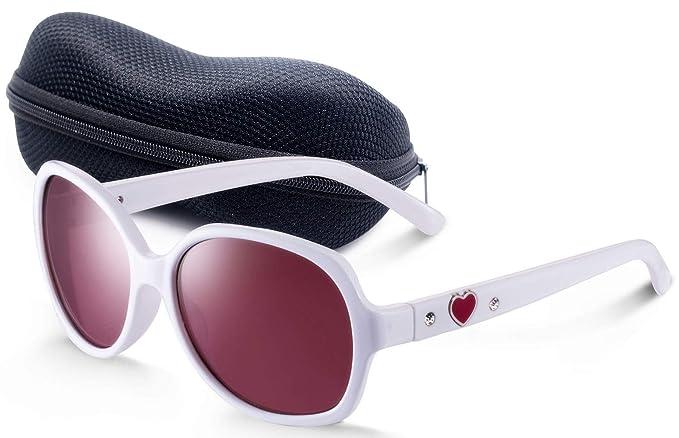 Amazon.com: UV400 Gafas de sol para niños blancas Wayfarer ...