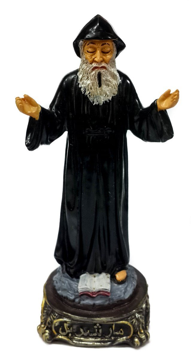 Saint Charbel Of Lebanon Resin Figurine Detailed Statue Hand Painted 8.3