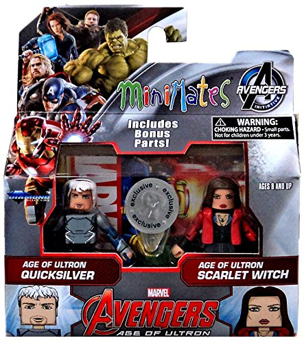 Marvel Avengers Age of Ultron Minimates Series 61 Age of Ultron Quicksilver & Scarlet Witch Minifigure 2-Pack