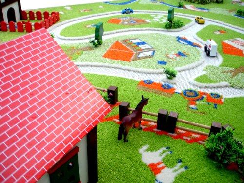 Little helper exclusivo grande y grueso alfombra para ni os tema finca con estanque y - Alfombras infantiles grandes ...