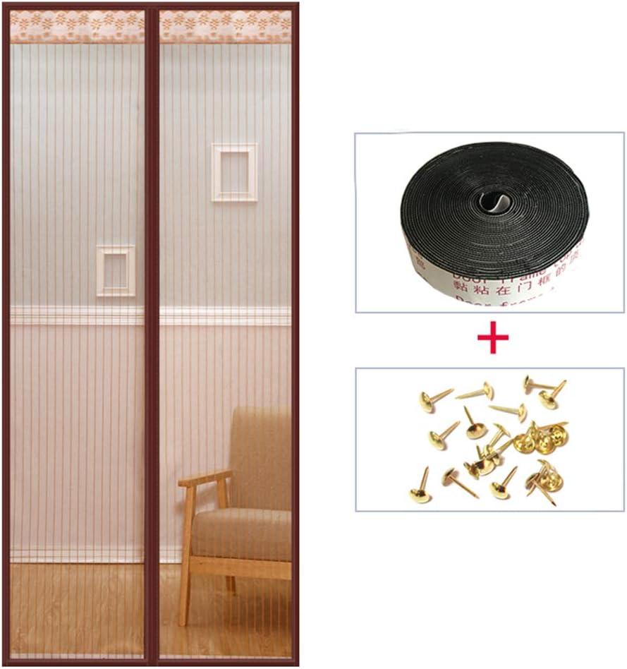 FOTEE Cortina de malla para puerta corredera, con manos libres, para puerta corrediza de hasta: Amazon.es: Bricolaje y herramientas