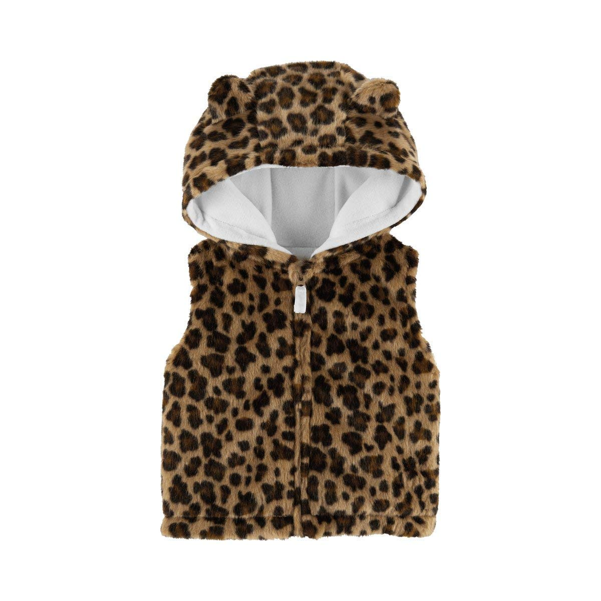Carters Baby Girls Faux Leopard Print Hooded Vest 6 Months Carter/'s
