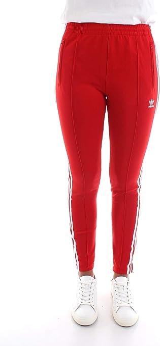 adidas pantaloni donna rossi